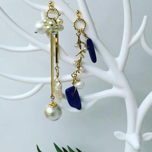 【聖剣LOMモチーフアクセサリー】LOM:Pearl & Lapis lazuli