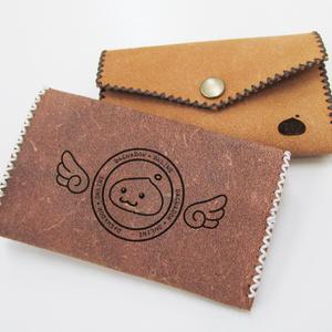 ポリン印の革製カードケース