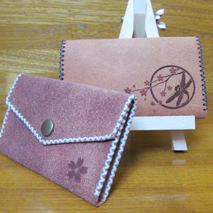 和柄カードケース「桜勝虫」