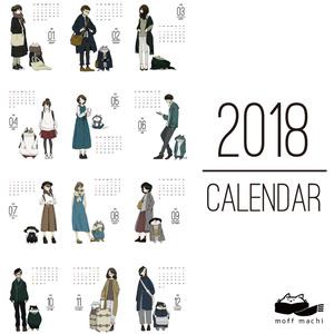 moffmachiカレンダー 2018