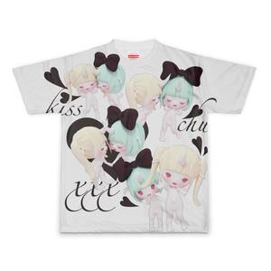 ユニとムーちゃんのちゅっちゅ♡Tシャツ