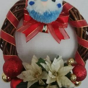 クリスマスリース(大)セキセイインコ