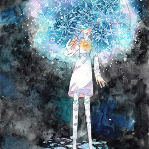 原画「傘の中の星」
