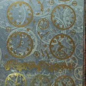 レジン・ネイル用シール 箔押しゴールド時計