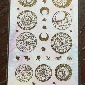 レジン・ネイル用シール 箔押しゴールド星図