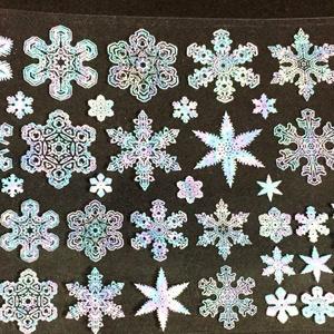 A7 雪の結晶パステルホワイト