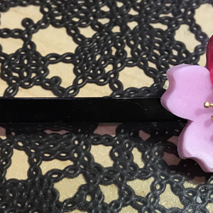 加州がデコった桜の髪飾り風ヘアピン(送料込)