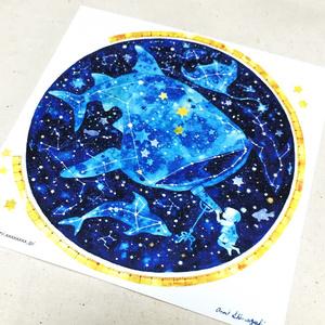 イラストカード(天体アクアリウム)