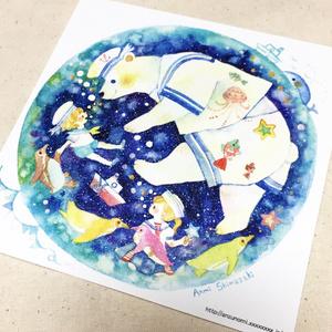 イラストカード(ちびっこ水兵さん)