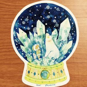 イラストカード(小さな雪空)