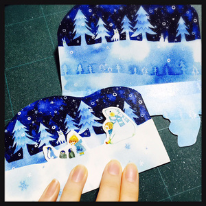 メッセージカード(冬景色)