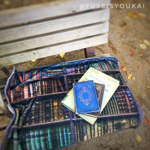 図書館(知を纏う ハーフブランケット)