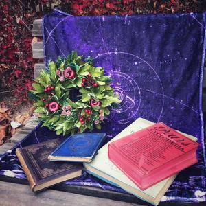 星の軌跡(紫) (星を纏う ハーフブランケット)
