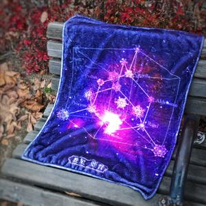 冬のダイヤモンド (紫)(星を纏う ハーフブランケット)