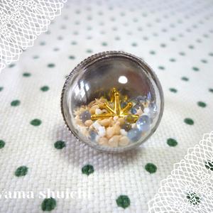 ガラスドームリング*星の砂