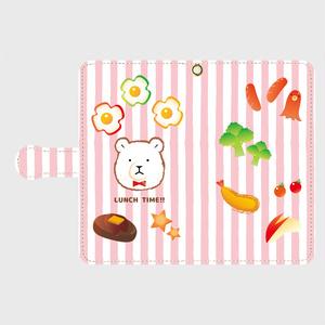 【スマホケース】しろくまランチ*ピンク
