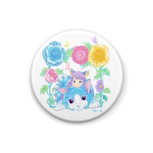 花と猫とアリス 缶バッジ
