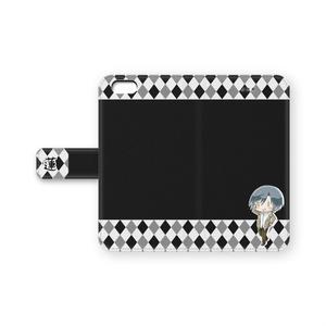 ナルシスト臭【蓮きゅん】手帳型iPhoneケース(黒)