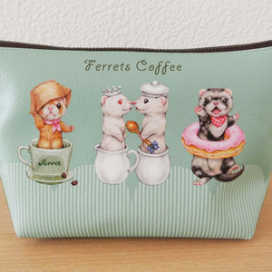 フェレットポーチ / Coffee break with Ferrets pouch