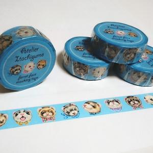 フェレットフェイスマスキングテープ / Ferret face masking tape