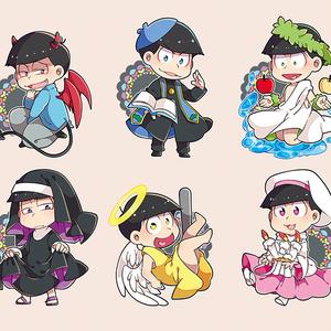 各衣装松シールセット(7種類)