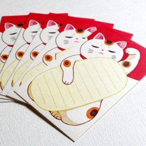 まねき猫メッセージカード