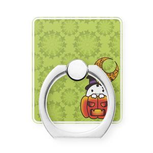 カボチャ畑のふわりん Pumpkin スマホリング