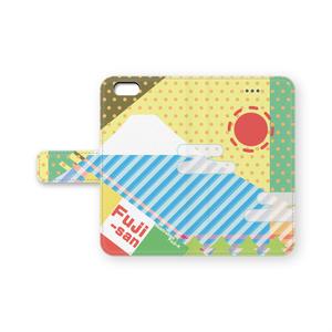 ぽかぽか太陽Mt-FJ iPhoneケース(手帳型)