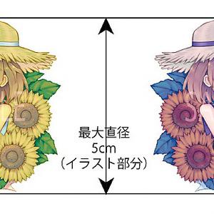 花と人間のアクリルキーホルダー(ヒマワリ)