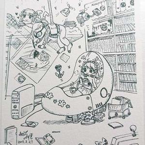 ぬりえポストカード「理想の部屋」