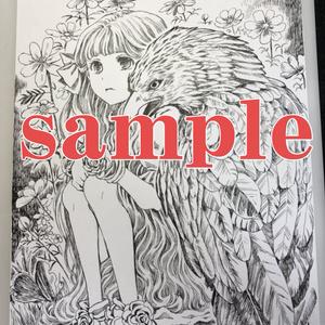 【イラスト原画】#021 鷹と少女