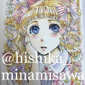 【NEW】イラスト原画#046 少女の瞳Ⅱ