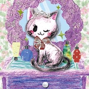 ■ポストカード■ ファッショナブル猫