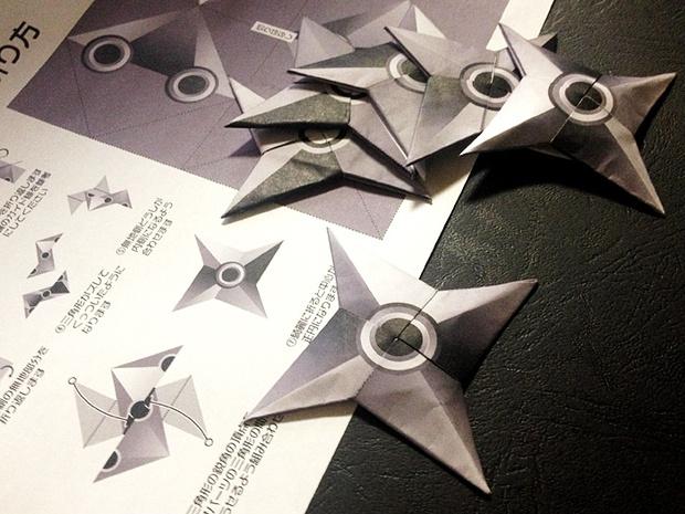 ハート 折り紙 折り紙で手裏剣 : matome.naver.jp