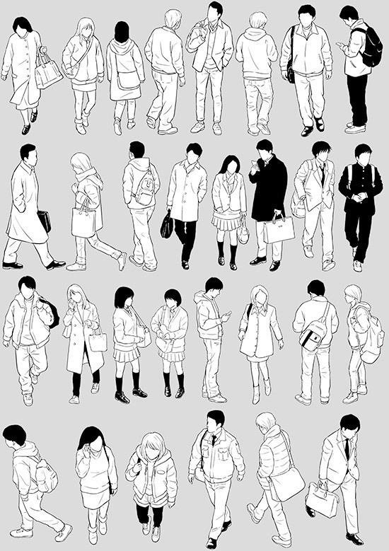 モブ秋冬用(フカン)その5【17.8.8 更新】