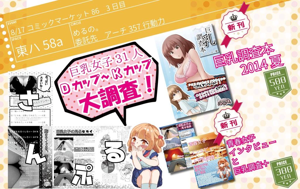 (数量限定)C86頒布セット【巨乳調査本】